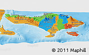 Political Panoramic Map of Bali