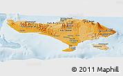Political Shades Panoramic Map of Bali, lighten