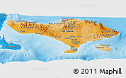 Political Shades Panoramic Map of Bali