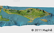 Satellite Panoramic Map of Bali