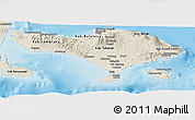 Shaded Relief Panoramic Map of Bali