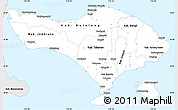 Silver Style Simple Map of Bali