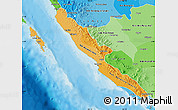 Political Shades Map of Bengkulu