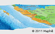 Political Shades Panoramic Map of Bengkulu