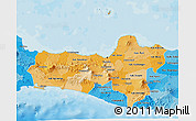 Political Shades 3D Map of Central Java