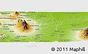 Physical Panoramic Map of Kab. Boyolali
