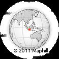 Outline Map of Kodya. Semarang