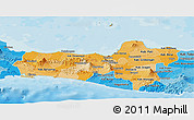 Political Shades Panoramic Map of Central Java