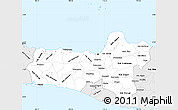 Silver Style Simple Map of Central Java