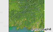 Satellite Map of Central Kalimantan
