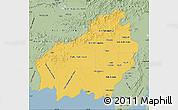 Savanna Style Map of Central Kalimantan