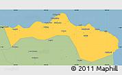 Savanna Style Simple Map of Kab. Situbondo