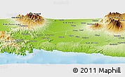Physical Panoramic Map of Kab. Tulungagung