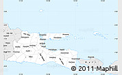 Silver Style Simple Map of East Java
