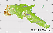 Physical Map of Kab. Berau, cropped outside