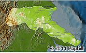 Physical Map of Kab. Berau, darken