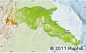 Physical Map of Kab. Berau, lighten