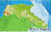 Physical Map of Kab. Berau, political outside