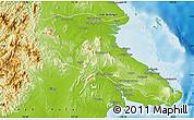 Physical Map of Kab. Berau