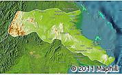 Physical Map of Kab. Berau, satellite outside