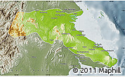Physical Map of Kab. Berau, semi-desaturated