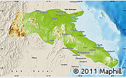 Physical Map of Kab. Berau, shaded relief outside
