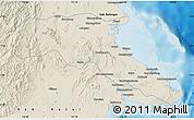Shaded Relief Map of Kab. Berau