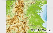 Physical 3D Map of Kab. Bulongan