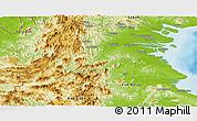 Physical Panoramic Map of Kab. Bulongan