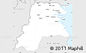 Silver Style Simple Map of Kab. Bulongan