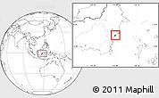 Blank Location Map of Kodya. Balikpapan