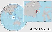 Gray Location Map of Kodya. Balikpapan