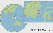Savanna Style Location Map of Kodya. Balikpapan