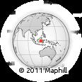Outline Map of Kodya. Balikpapan