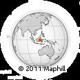 Outline Map of Kodya. Samarinda
