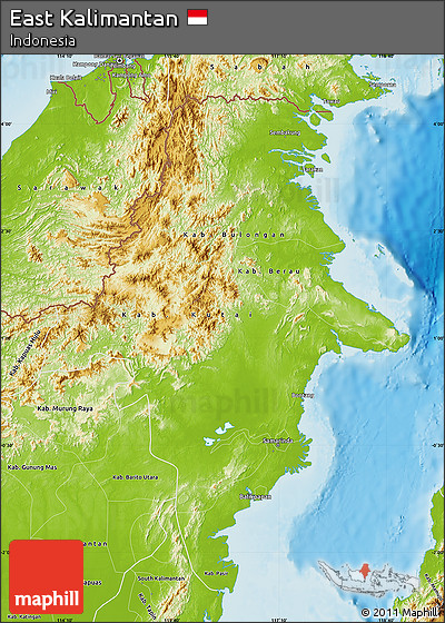 Physical Map of East Kalimantan
