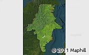Satellite Map of East Kalimantan, darken