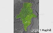 Satellite Map of East Kalimantan, desaturated
