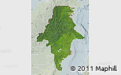 Satellite Map of East Kalimantan, lighten