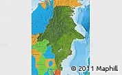 Satellite Map of East Kalimantan, political outside