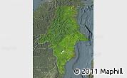 Satellite Map of East Kalimantan, semi-desaturated