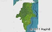 Satellite Map of East Kalimantan, single color outside