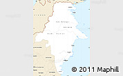 Classic Style Simple Map of East Kalimantan
