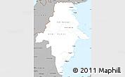 Gray Simple Map of East Kalimantan