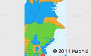 Political Simple Map of East Kalimantan