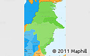 Political Shades Simple Map of East Kalimantan