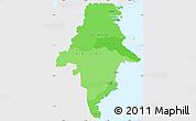 Political Shades Simple Map of East Kalimantan, single color outside