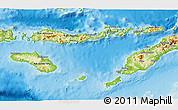 Physical 3D Map of East Nusa Tenggara