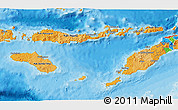 Political Shades 3D Map of East Nusa Tenggara