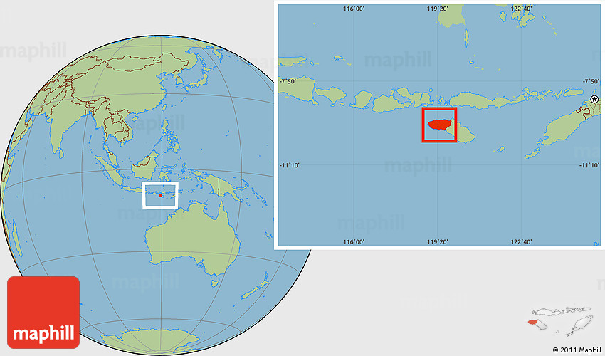 Savanna Style Location Map Of Kab Sumba Barat